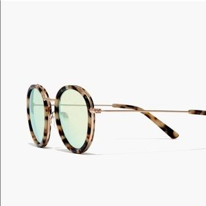 Madewell round reflective glasses